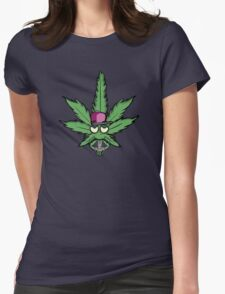 Weed Leaf Womens Fitted T-Shirt