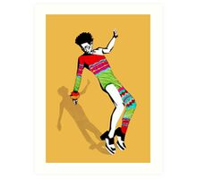 Funky Colorful Dancer Art Print