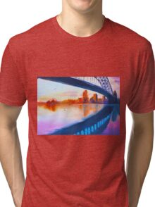 opera house harbour bridge - purple sunset  Tri-blend T-Shirt
