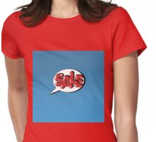 Bubble with Expression Sale in Vintage Comics Style Womens Fitted T-Shirt