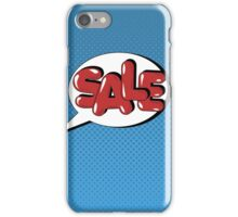 Bubble with Expression Sale in Vintage Comics Style iPhone Case/Skin
