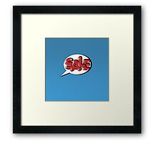 Bubble with Expression Sale in Vintage Comics Style Framed Print