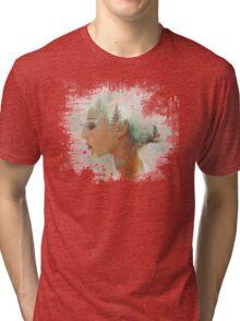 women face Tri-blend T-Shirt