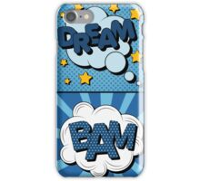 Set of Comics Bubbles in Vintage Style. Expressions Dream, Poof, Bam, Crash iPhone Case/Skin
