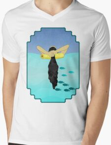 Floating Your Cares Away Mens V-Neck T-Shirt
