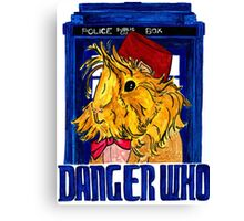 Danger Who, the Eleventh Guinea Pig Doctor Canvas Print