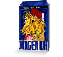 Danger Who, the Eleventh Guinea Pig Doctor Greeting Card