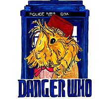 Danger Who, the Eleventh Guinea Pig Doctor Photographic Print