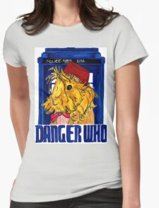Danger Who, the Eleventh Guinea Pig Doctor Womens Fitted T-Shirt
