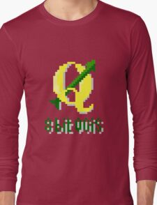 8 bits QGIS Long Sleeve T-Shirt