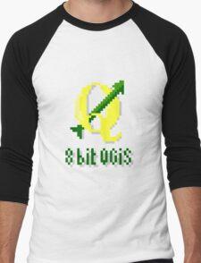8 bits QGIS Men's Baseball ¾ T-Shirt