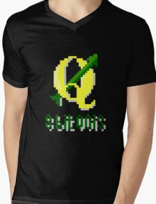 8 bits QGIS Mens V-Neck T-Shirt