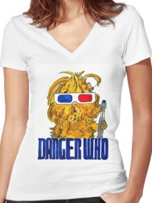 Danger Who, the Tenth Guinea Pig Doctor Women's Fitted V-Neck T-Shirt