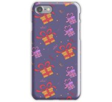 Happy Birthday Seamless Pattern with Presents for Children Party iPhone Case/Skin