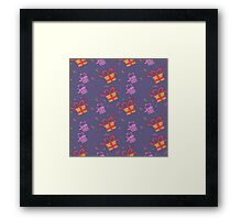 Happy Birthday Seamless Pattern with Presents for Children Party Framed Print