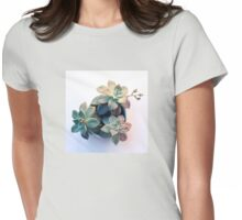 Succulent in Evening Light Womens Fitted T-Shirt