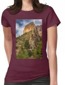 The ridge and stormy skies Womens Fitted T-Shirt