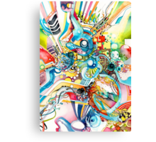 Unlimited Curiosity - Watercolor + Pen Art Canvas Print