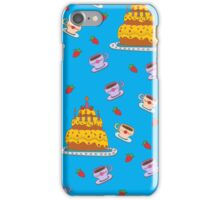 Happy Birthday Seamless Pattern with Cake for Children Party iPhone Case/Skin