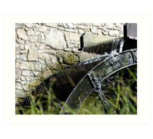 Corn Mill Water Wheel Art Print