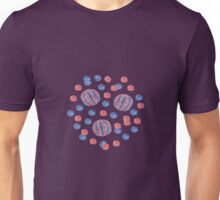 Striped and single-color ball's pattern Unisex T-Shirt