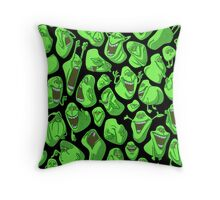 Fifty shades of slime Throw Pillow