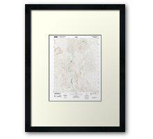 USGS TOPO Map Arizona AZ Willow Beach 20111027 TM Framed Print