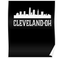Cleveland Ohio T-shirt Skyline Silhouette OH City Gift tee Poster
