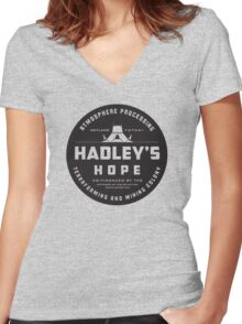 Hadleys Hope Atmosphere Processing Colony Women's Fitted V-Neck T-Shirt