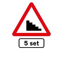 Skateboard 5 Stair Set Road Sign Photographic Print