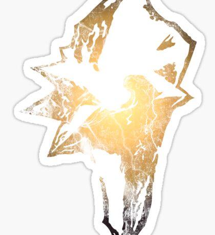 Final Fantasy IX logo grunge Sticker