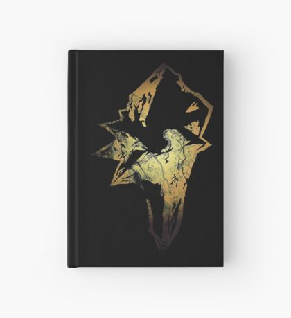 Final Fantasy IX logo grunge Hardcover Journal