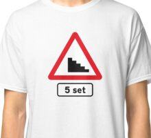 Skateboard 5 Stair Set Road Sign Classic T-Shirt