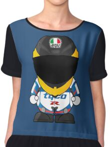 Guy Martin Racer Cartoon Design Chiffon Top