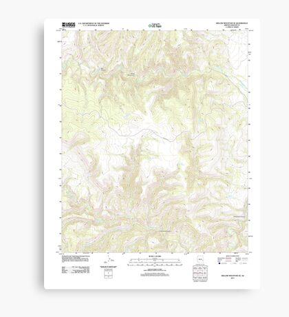 USGS TOPO Map Arizona AZ Willow Mountain SE 20111031 TM Canvas Print