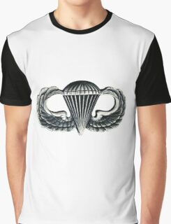 Paratrooper Jump Wings Graphic T-Shirt