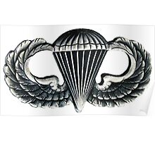 Paratrooper Jump Wings Poster