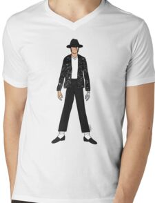 Billy Jean Jackson Mens V-Neck T-Shirt