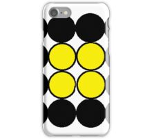 black and yellow circles iPhone Case/Skin