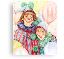Clowns Happy Halloween! Canvas Print
