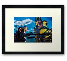 Allegory about  007  14 08   Framed Print