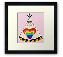 A Home Where Your Heart Shines Framed Print