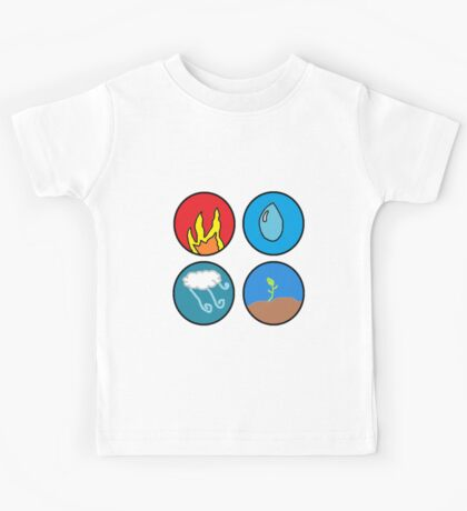 fire, water, wind, earth Kids Tee