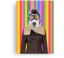 best dog work like aviator Canvas Print
