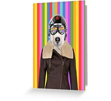 best dog work like aviator Greeting Card