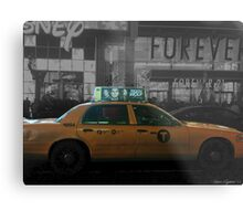 Teen Wolf - Times Square Taxi Metal Print