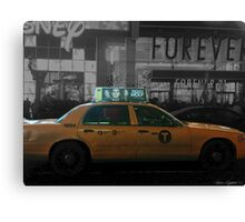 Teen Wolf - Times Square Taxi Canvas Print