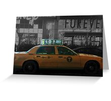 Teen Wolf - Times Square Taxi Greeting Card