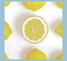 Half colorful lemon in a squared composition One Piece - Short Sleeve