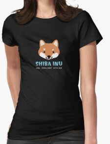 Shiba Inu: Loyal  Intelligent  Cutie Face Womens Fitted T-Shirt